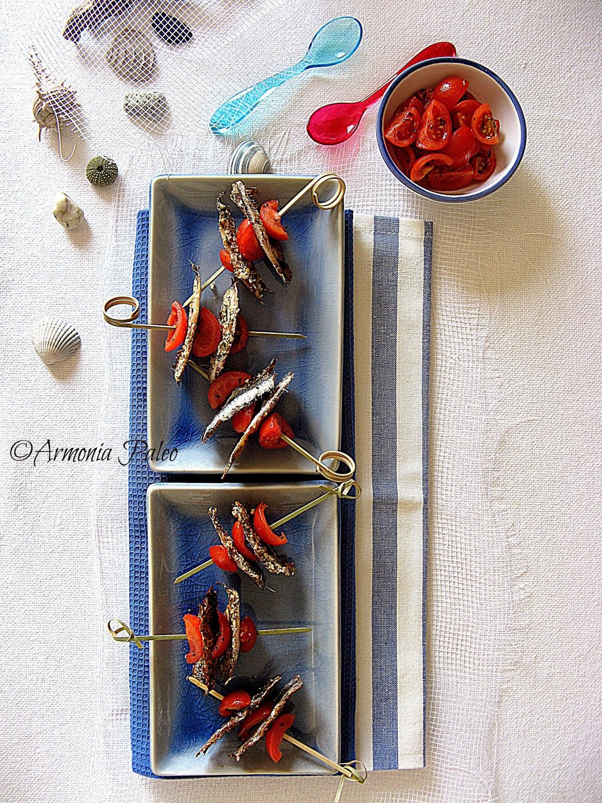 Alici Azzurro Mare e Rosso Pomodoro di Armonia Paleo