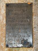 Placa amb l'explicació de l'origen de la Creu de Terme