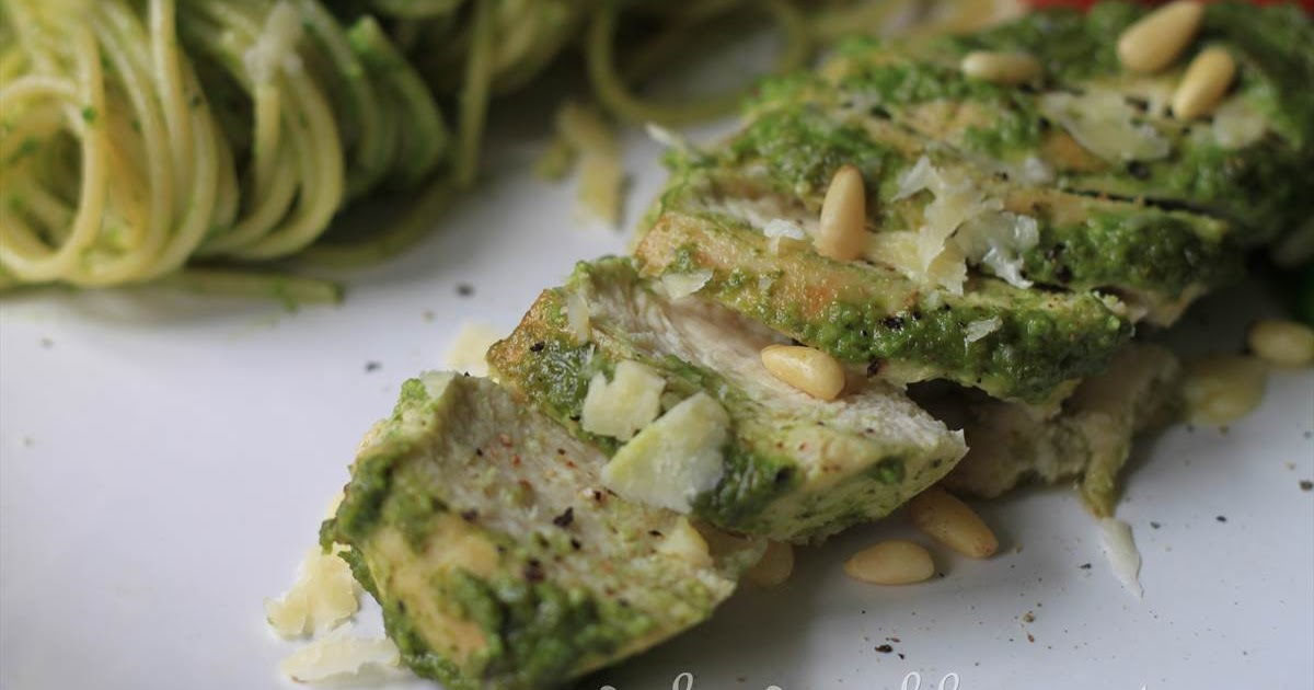 GoodyFoodies: Recipe: Pesto-glazed chicken breast with ...