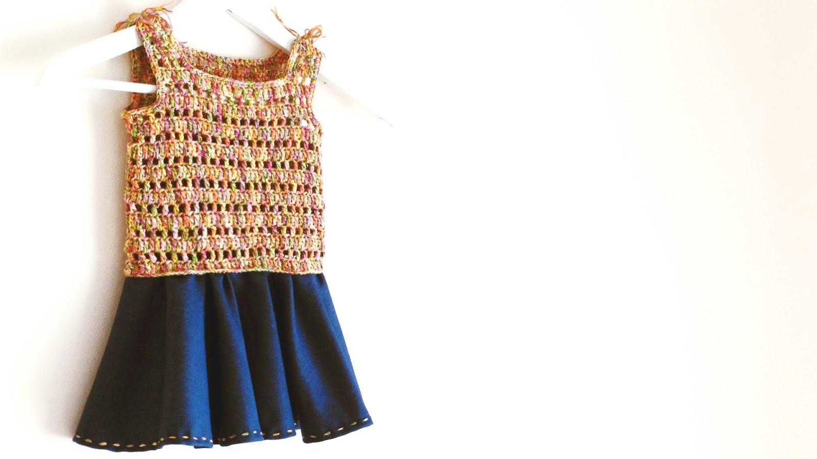 vestido para nina katia crochet