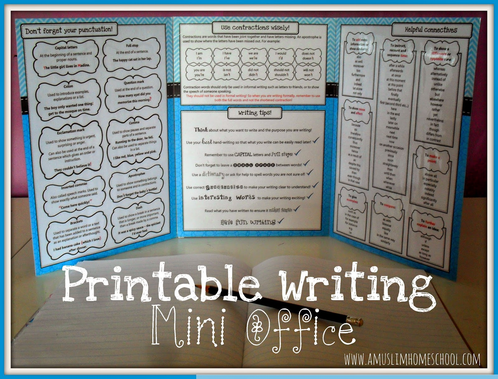 A muslim homeschool writing mini office writing mini office thecheapjerseys Gallery