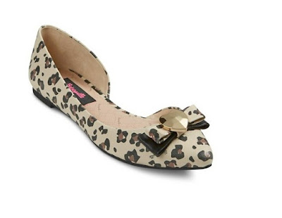 Betseyville by Betsey Johnson leopard print d'orsay flats
