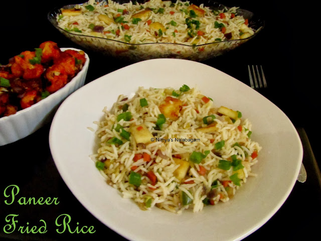Paneer Fried Rice | Step by step pictures