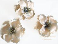 Прозрачни цветя от полимерна глина