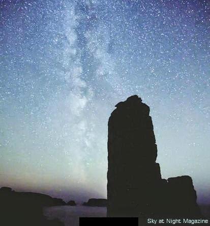 Light pollution disturbing the starry night sky