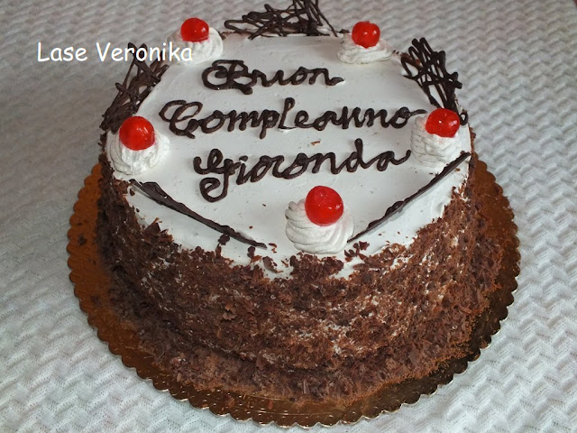 Cake Lover: Black Forest, Birthday cake for my mother in law
