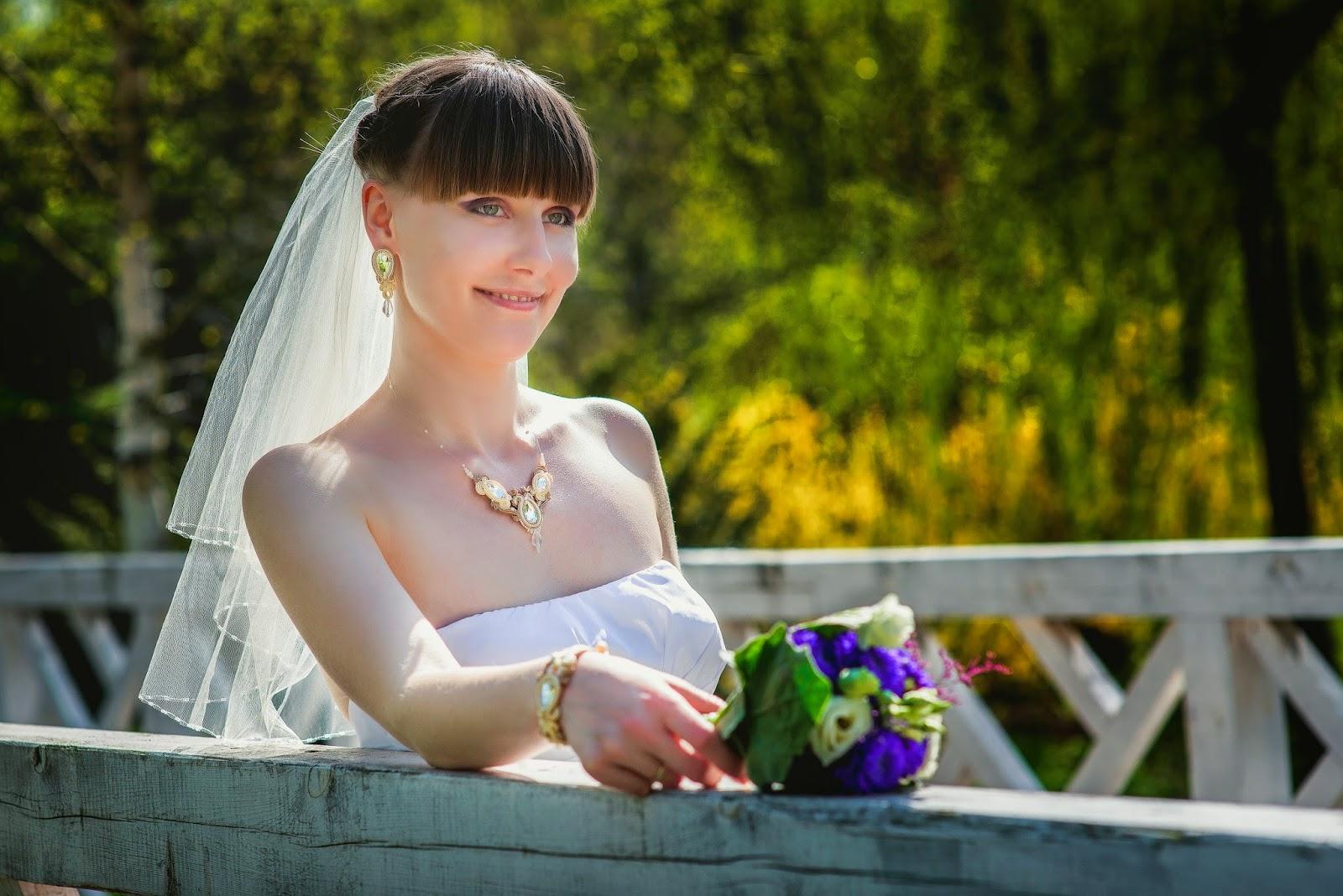 Biżuteria ślubna ecru beż