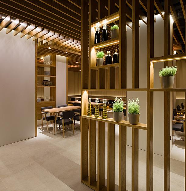 Marzua restaurante besso en palma de mallorca un - Muros decorativos para interiores ...