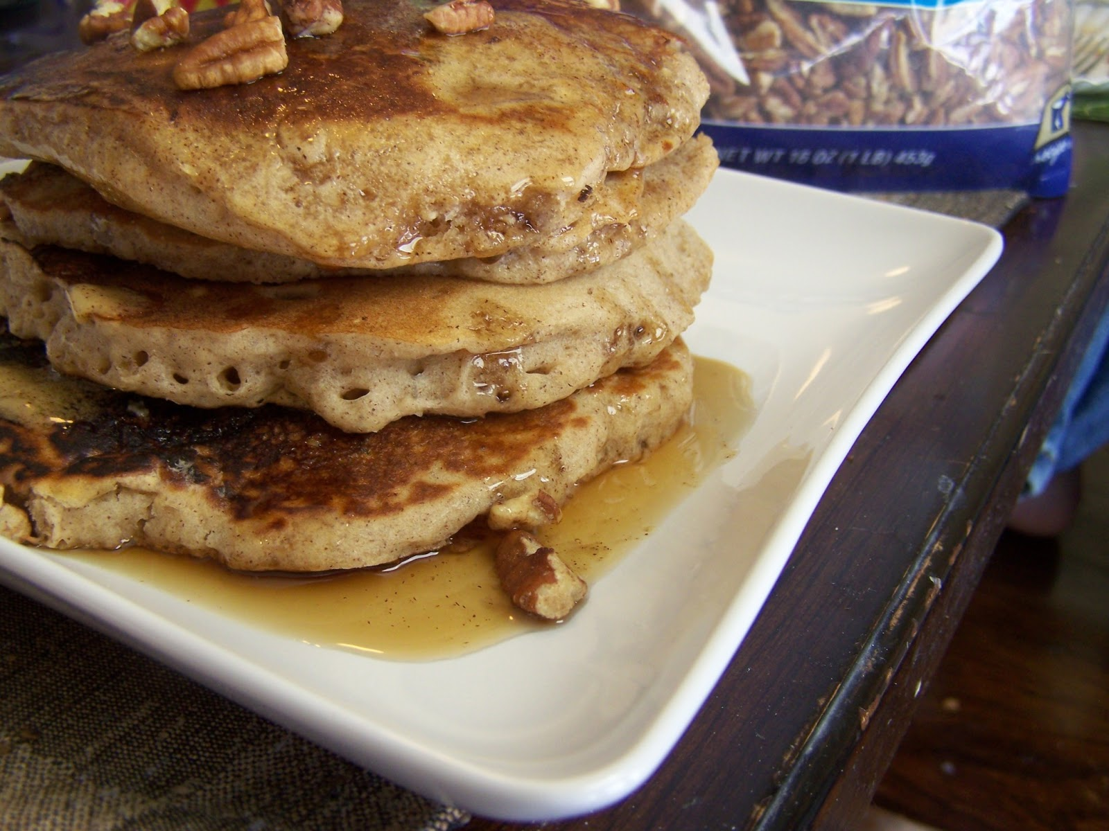 ... Brainchild: Banana Oat Raisin Pancakes with Honey Cinnamon Butter