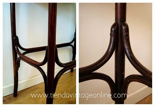 Comprar mesa Thonet. Mesas antiguas de madera internet. Mesitas vintage baratas online