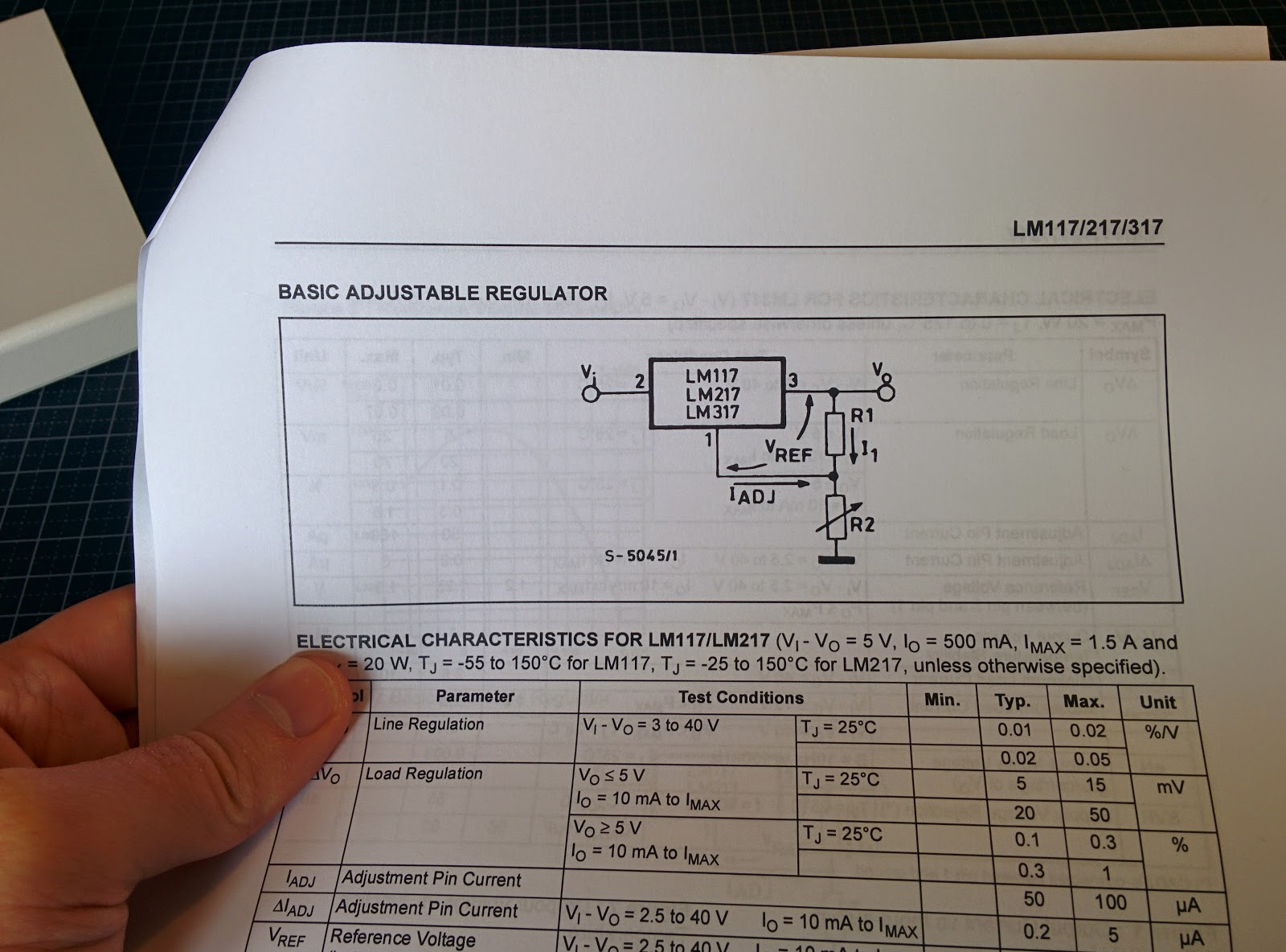 LM317 Spec sheet