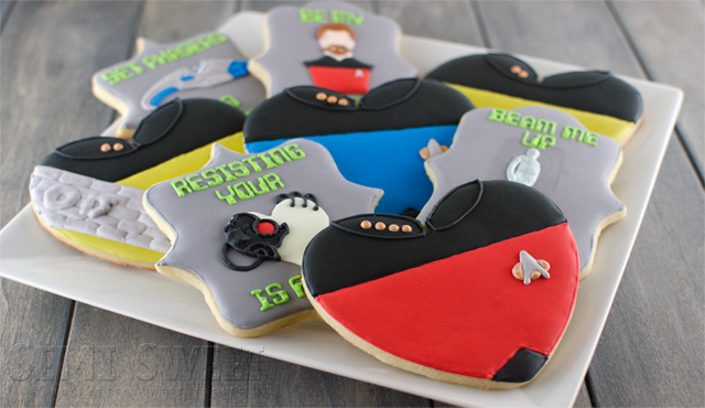 Geek Valentine's Day Cookies: Star Trek