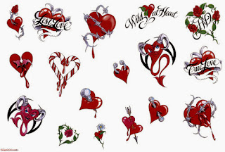 diseños de tatuajes de corazones