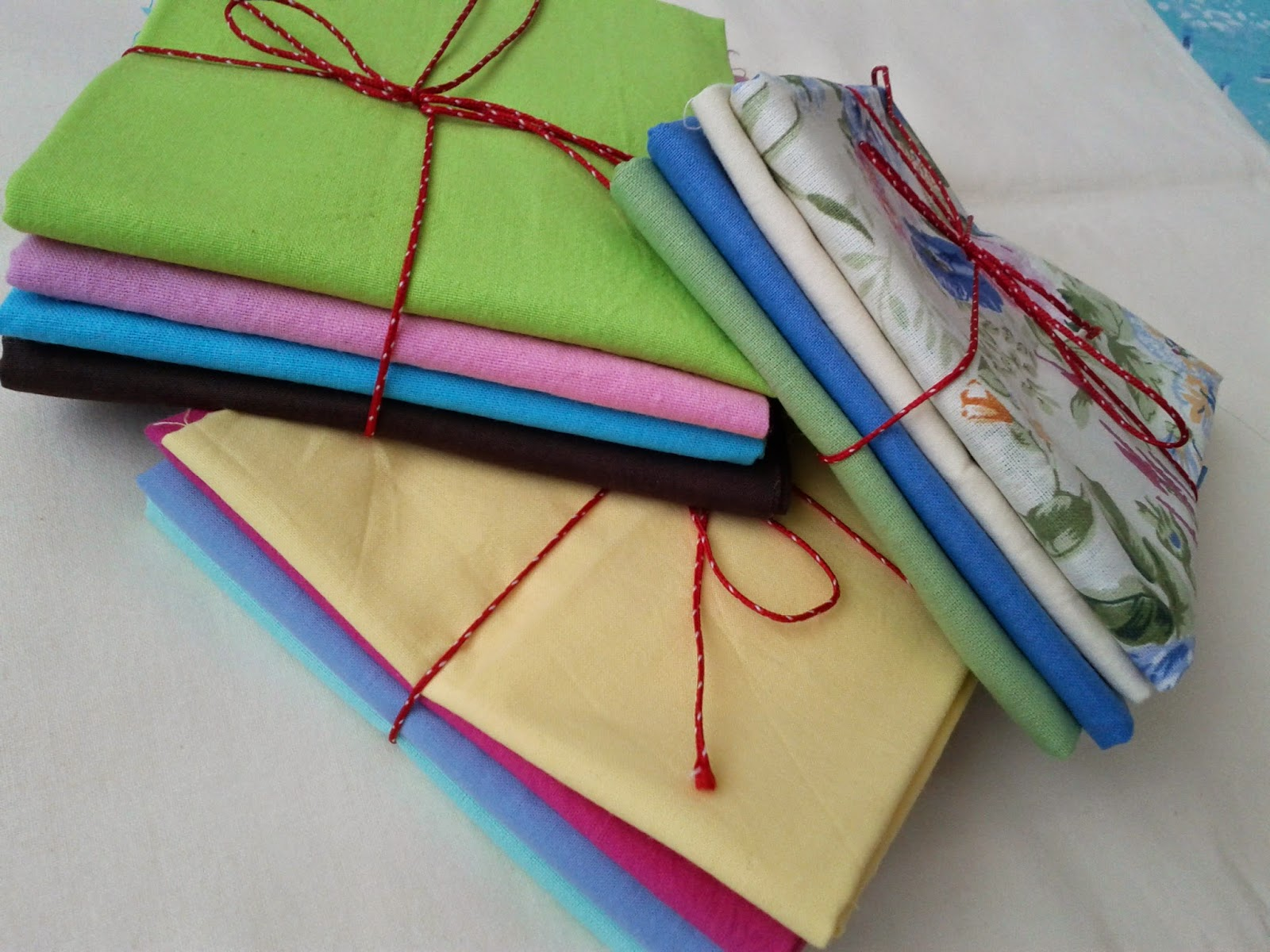 fat quarter bundles for my brand new quilting supply shop!