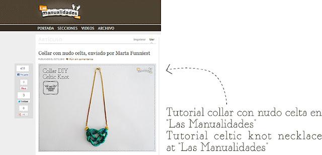 """DIY para """"Las Manualidades"""" / DIY necklace for """"Las Manualidades"""