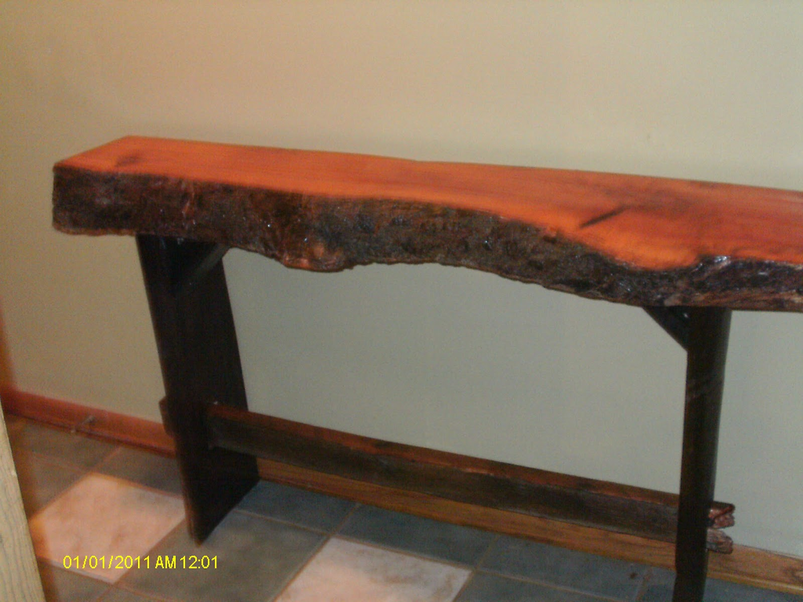 Handmade rustic log furniture 4 39 long x 32 tall x 10 for 10 deep console table
