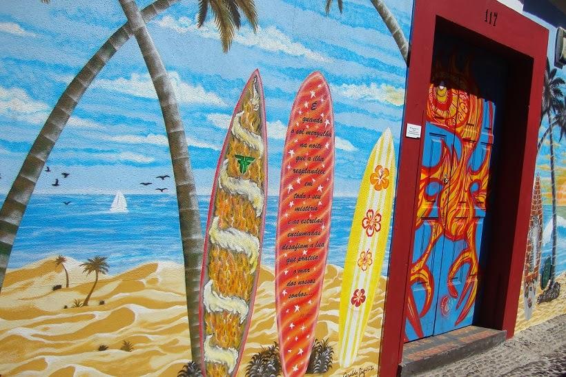 Funchal door street art