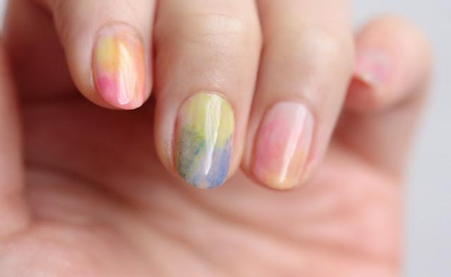 watercolor nail polish