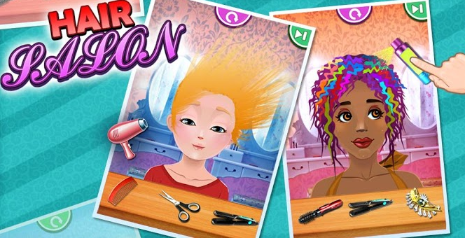 Hair salon kids games android free download free for Salon games free download