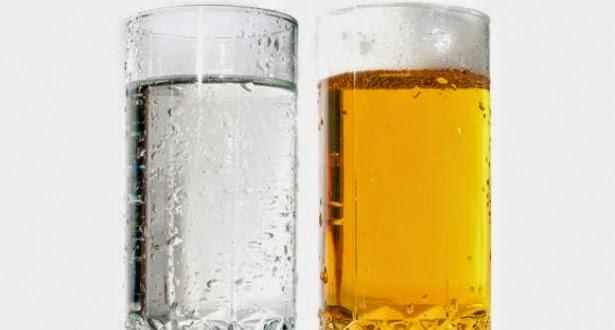 cerveja e agua