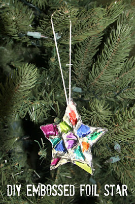 DIY Ornament: An Embossed Foil Star