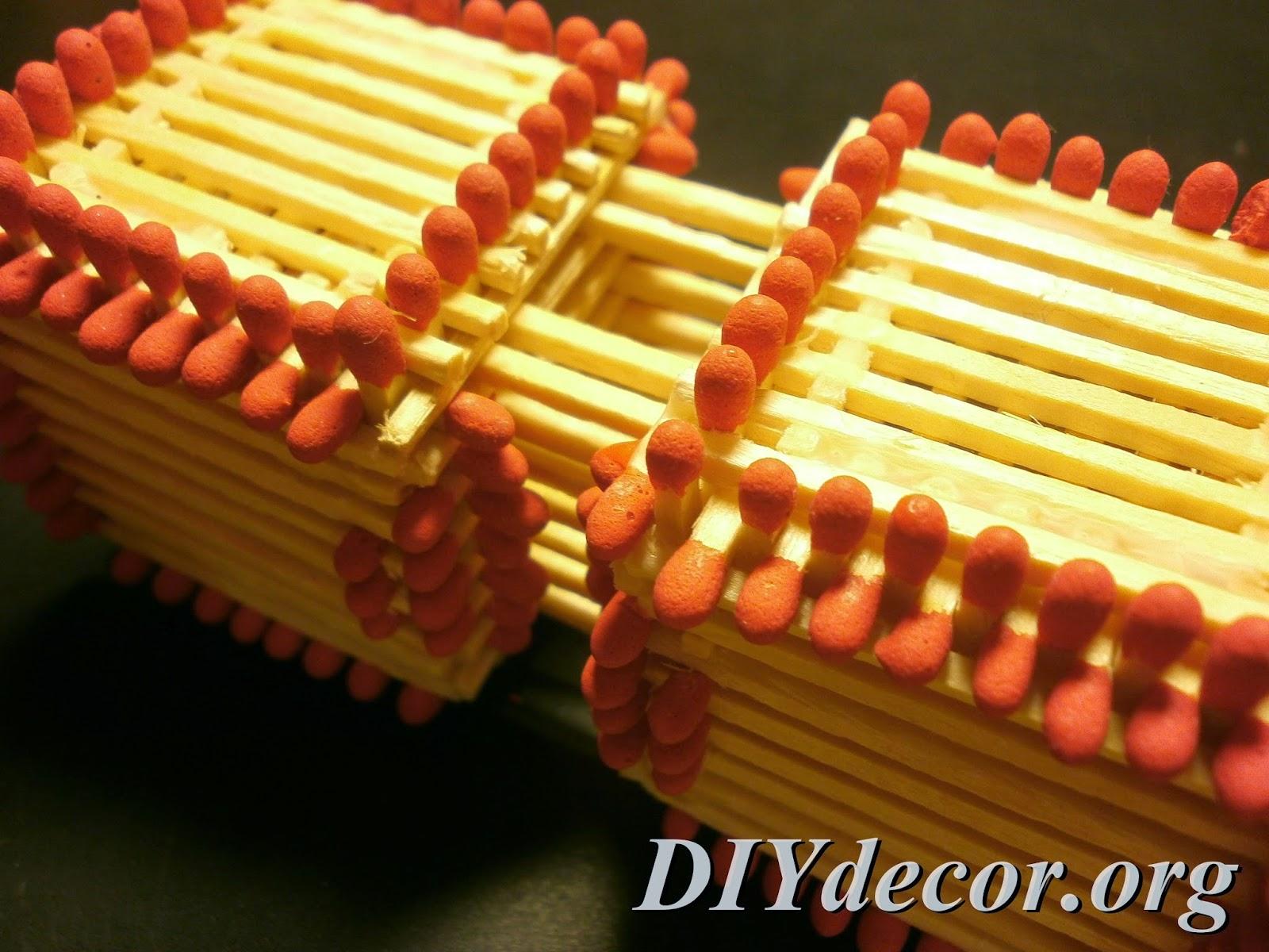 Как сделать кубик в кубике из спичек
