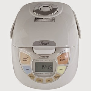 Rosewill 5.5 Cup Uncooked Fuzzy Logic Digital Rice Cooker and Food Steamer