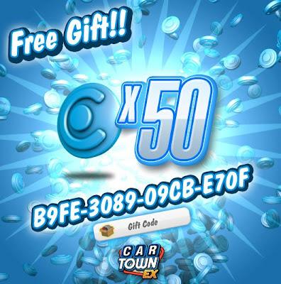 Car Town EX Free Gift 50 Puntos Azules