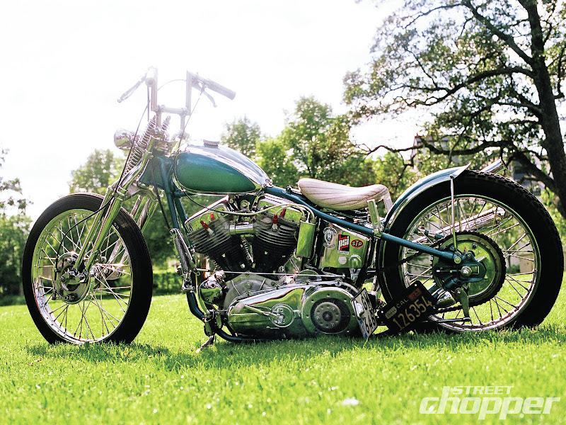 Nostalgia on Wheels: 1955 Swedish Panhead Street Chopper ...