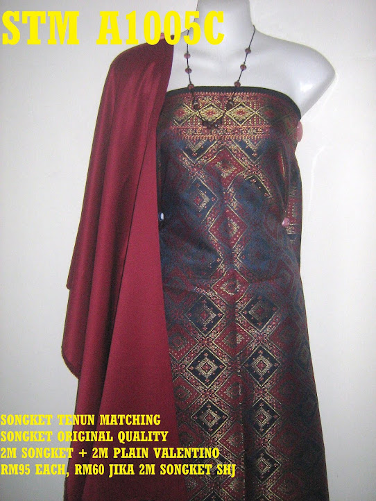 STM A1005C: SONGKET TENUN MATCHING, HIGH QUALITY, 2M SONGKET + 2M PLAIN
