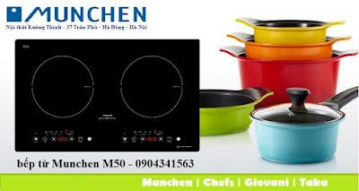 Một trong những sản phẩm bếp từ nhập khẩu là bếp từ Munchen