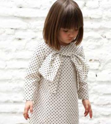 Model bob rambut lurus untuk anak-anak 2155897