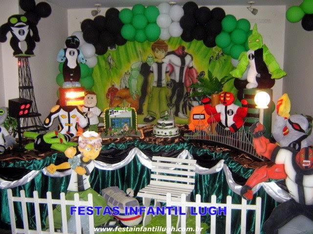 tema Ben 10 para decoração de festa infantil