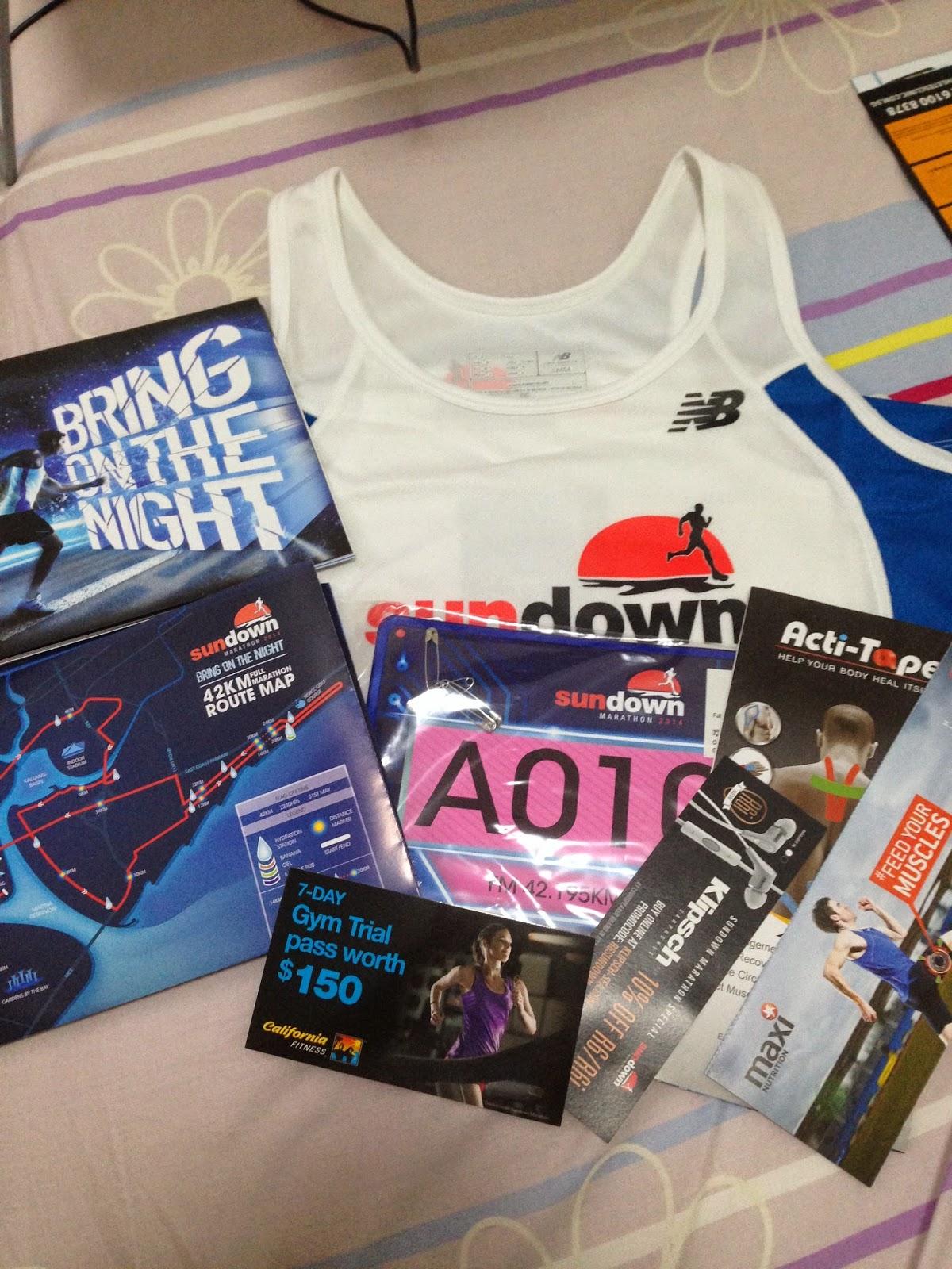 Sundown Marathon 2014 Race Pack Collection, heartsbeeping.blogspot.com