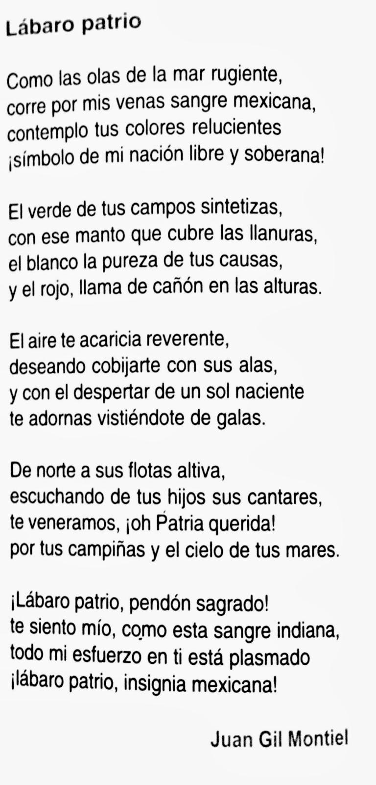 Poesía lábaro patrio - 24 de febrero día de la bandera