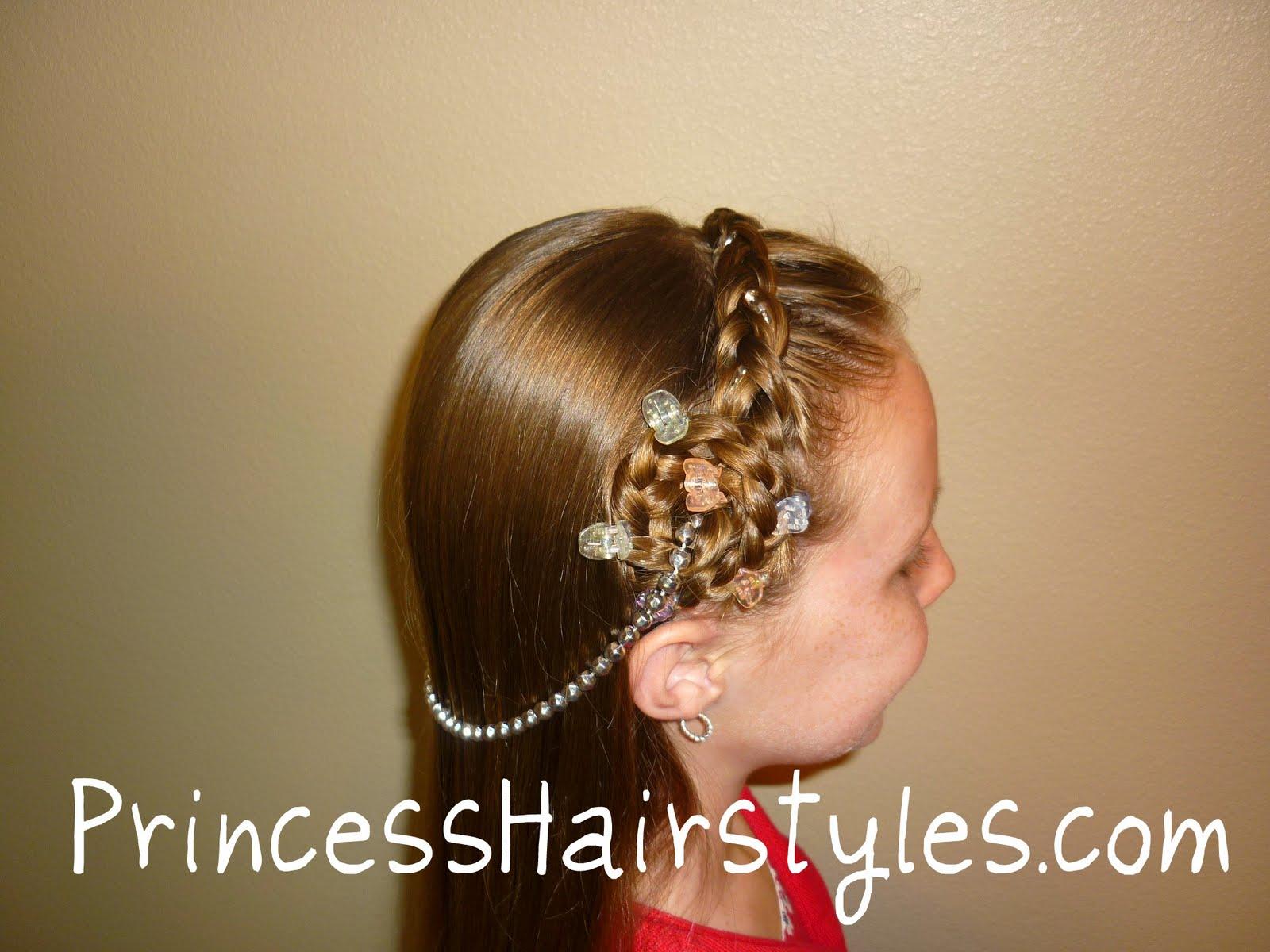 Halloween Hairstyles, Princess Braided Headband With Jewels ...