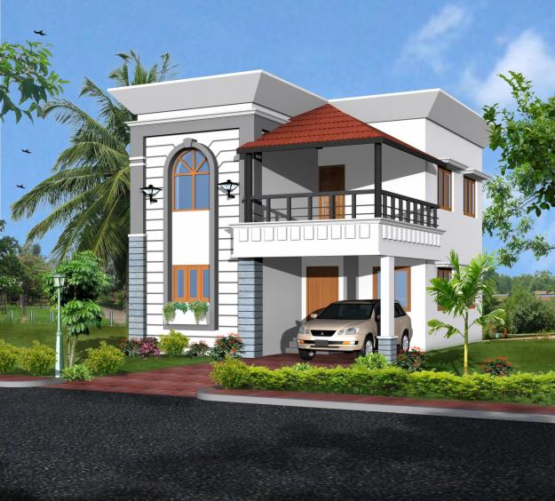 Indian new kerala bungalow elevation front picture joy Villa designs india