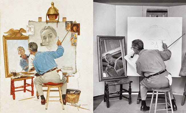 Triple Self Portrait || Norman Rockwell Behind the Camera