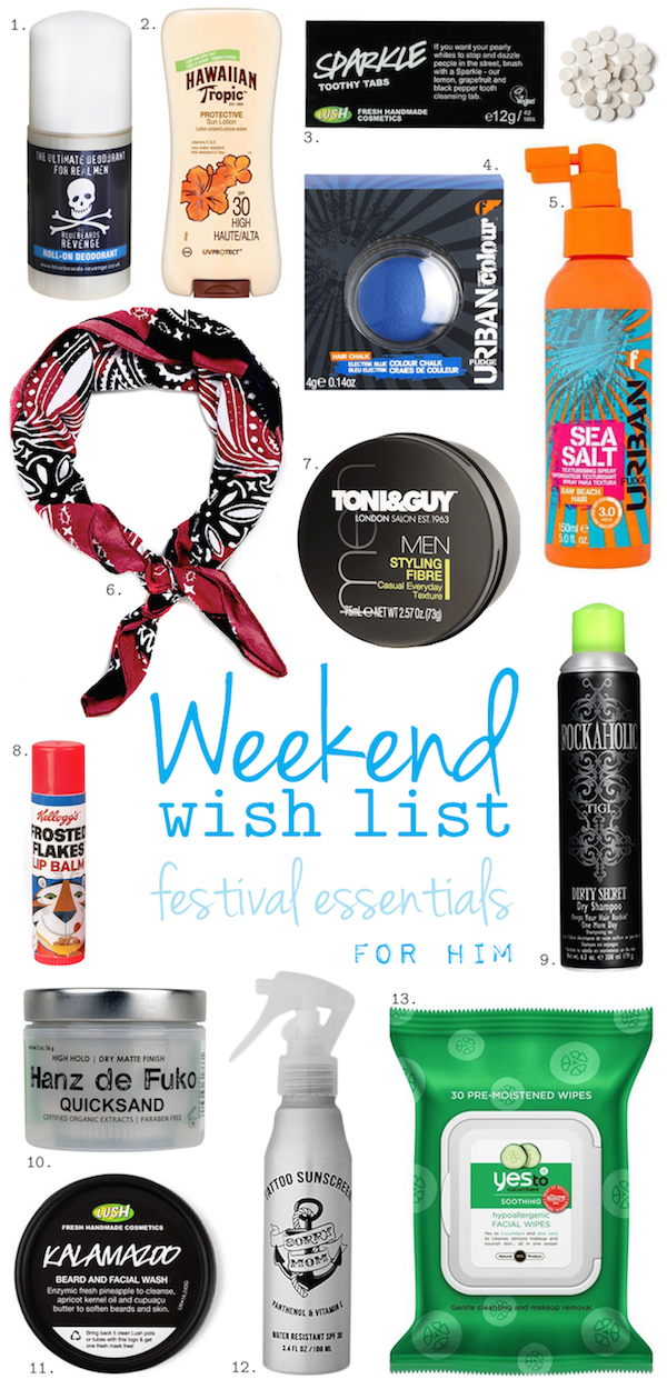 Wish List: Festival Essentials For Him