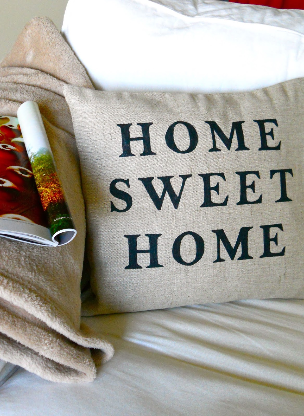 Home Sweet Home with Love Birds, Fall Colors, Art Print