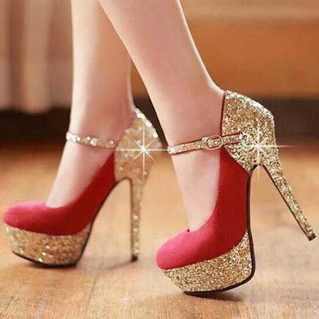 Beautiful Latest Design Girls High Heel Shoes Wallpaper