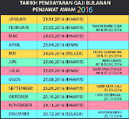 JADUAL GAJI 2016