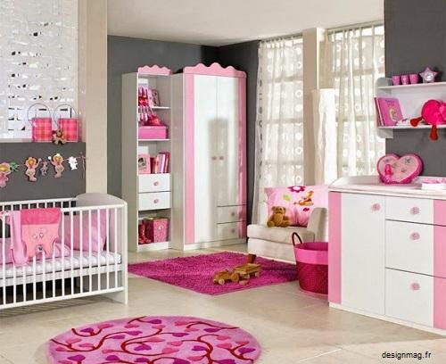 Décoration chambre bébé fille rose et gris - Bébé et décoration ...