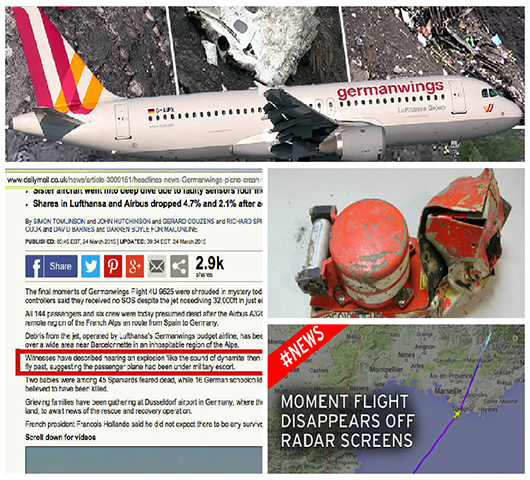 Flight 4U 9525 Germanwings Airbus: More Mysterious Evidence