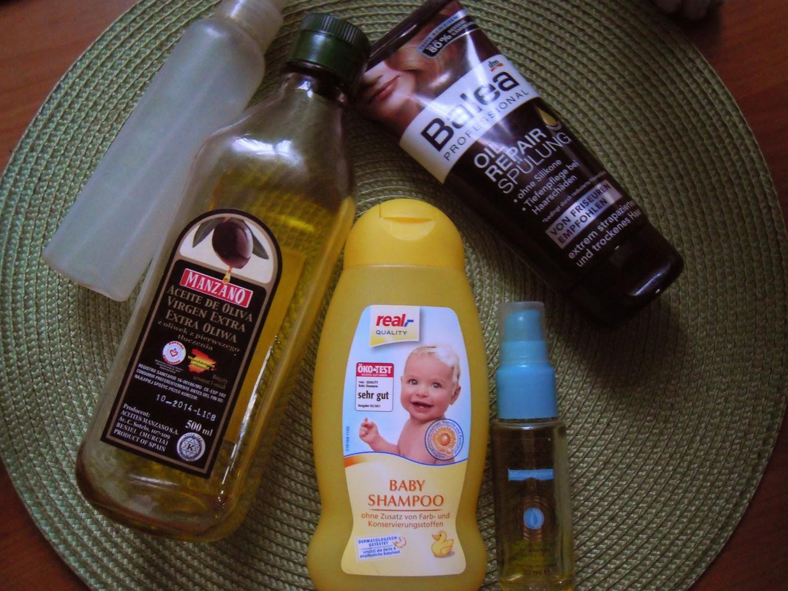 Niedziela dla włosów 25.01.2015 Pierwsze wrażenie: odżywka Balea oil