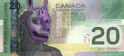 money art, canadian dollar bill, avatar money