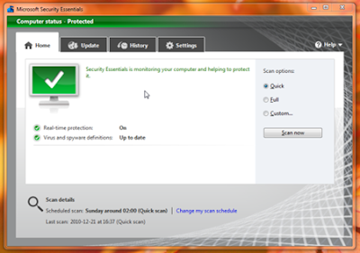 Antivirus Terbaik Microsoft Security Essentials
