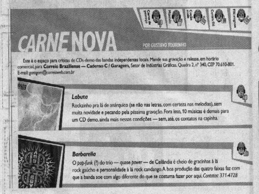 """CARNE NOVA"" CORREIO BRAZILIENSE"