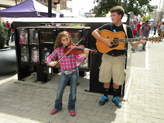 World of Bluegrass Street Festival in Raleigh North Carolina.  Photograph by Janie Robinson, Travel Writer