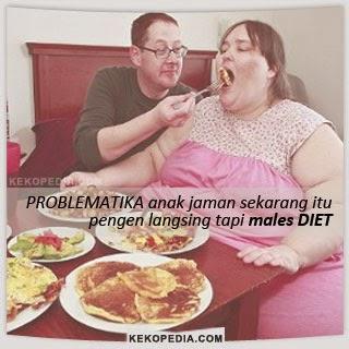 Dp BBM Lucu Tentang Diet